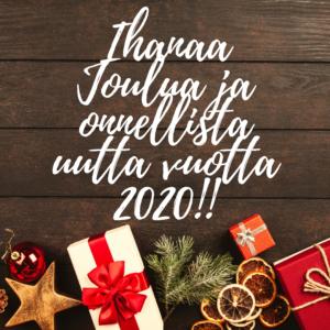 Hyvää joulua ja onnellista uutta vuotta 2020!