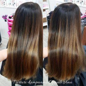 B3 hiustenvärjäyksen yhteydessä